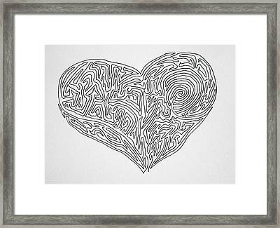 Laying Your Heart On A Line  Framed Print by Vicki  Housel