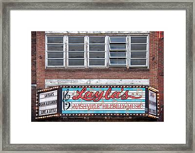 Layla's In Nashville Framed Print by Mike Burgquist
