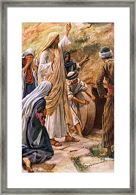 Lazarus, Come Forth Framed Print by Harold Copping