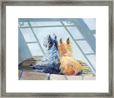 Lazin Around Framed Print by Kimberly Santini