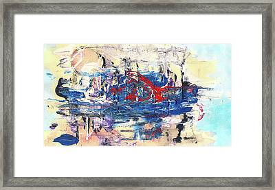 Laziness - Large Bright Pastel Abstract Art Framed Print by Modern Art Prints