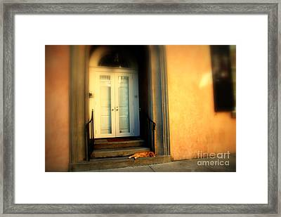 Lazy Afternoon At Kings Street In Charleston Sc Framed Print