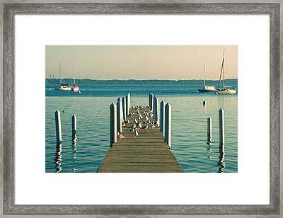 Lazy Afternoon Pier Framed Print by Todd Klassy