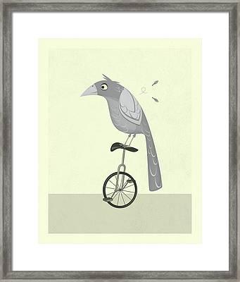 Lazy Bird Framed Print