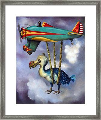 Lazy Bird Framed Print by Leah Saulnier The Painting Maniac