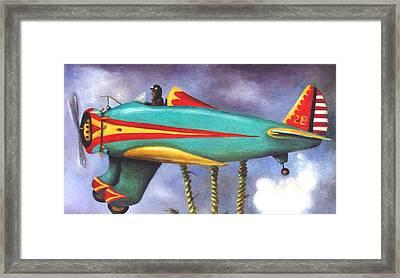 Lazy Bird Plane Detail Framed Print by Leah Saulnier The Painting Maniac