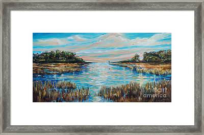 Lazy Coastal River II Framed Print