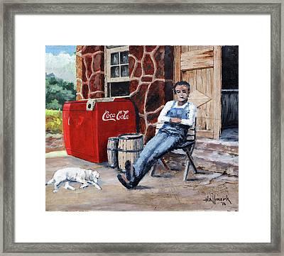 Lazy Day In Snuff Town Framed Print by Bob Hallmark