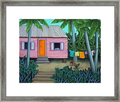 Lazy Day In The Caribbean Framed Print by Lorraine Klotz