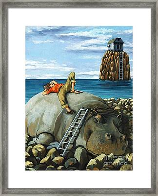 Lazy Days - Surreal Fantasy Framed Print