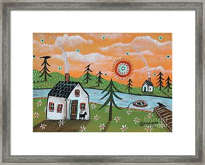 Lazy Days Framed Print by Karla Gerard