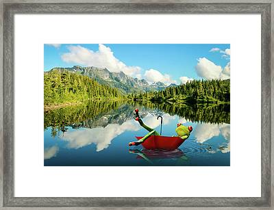 Framed Print featuring the digital art Lazy Days by Nathan Wright