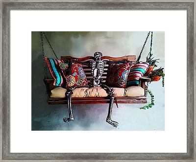 Lazy Goul Framed Print