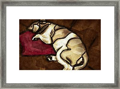 Lazy Hound Framed Print
