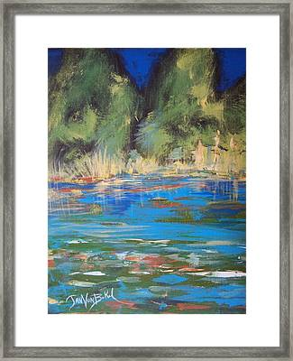 Lazy Lake Framed Print