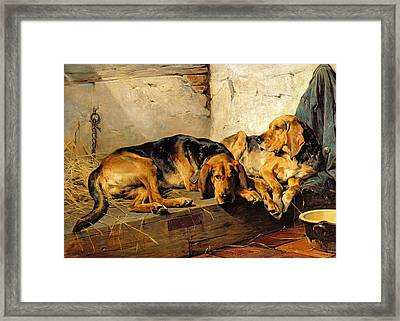 Lazy Moments Framed Print by John Sargent Noble