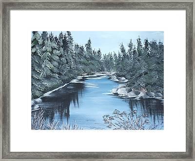 Lazy River Framed Print by Bev  Neely