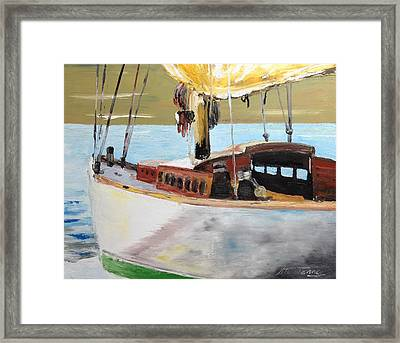 Lazy Sloop Framed Print