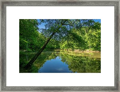 Lazy Summer Day On The River Framed Print