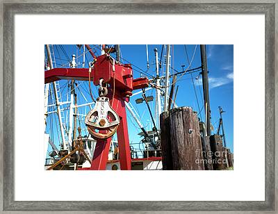 Framed Print featuring the photograph Lbi Boat Chain by John Rizzuto