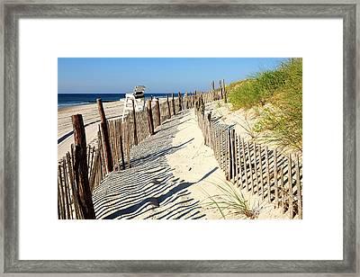Lbi Dunes Framed Print