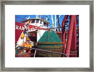 Framed Print featuring the photograph Lbi Green Fishing Nets by John Rizzuto