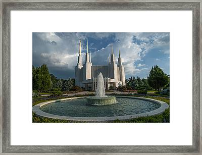 Lds Water Fountain  Framed Print