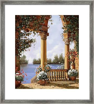 Le Arcate Sul Lago Framed Print