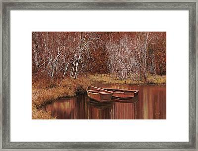 Le Barche Sullo Stagno Framed Print by Guido Borelli