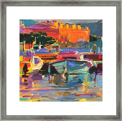 Le Bateau Dormir Framed Print by Peter Graham