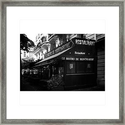 Le Bistro De Montmartre  #travel Framed Print