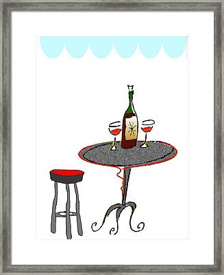 Le Bistrot Framed Print by Mimo Krouzian