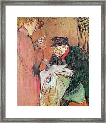 Le Blanchisseur De La Maison, 1894 Framed Print by Henri de Toulouse-Lautrec