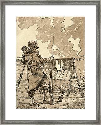 Le Bleuet. Symbol Of Memory Framed Print by Vintage Design Pics