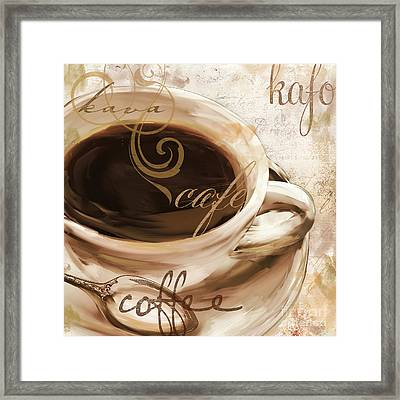 Le Cafe Light Framed Print by Mindy Sommers