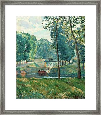 Le Canal Du Midi Framed Print by Gustave   Albert