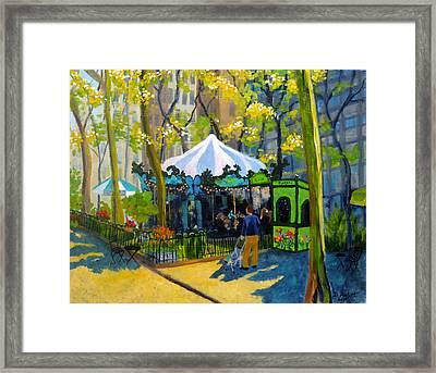 Le Carrousel In Bryant Park Framed Print