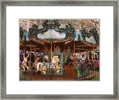 Le Carrousel In Bryant Park, New York City Framed Print by Dora Sofia Caputo Photographic Art and Design