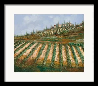 Impressionistic Wine Framed Prints
