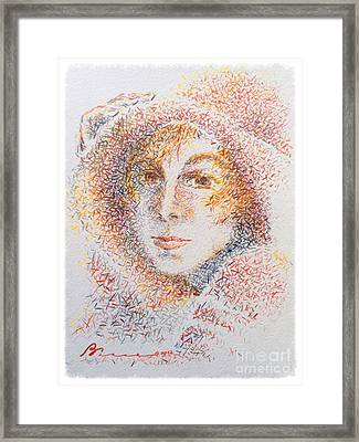 Le Chapeau Framed Print by Barbara Chase