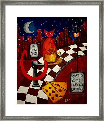 Le Chat Rouge  Framed Print by Silvia Regueira