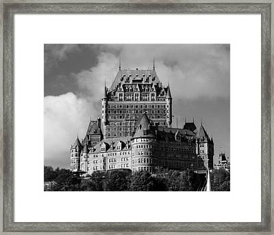 Le Chateau Frontenac - Quebec City Framed Print by Juergen Weiss