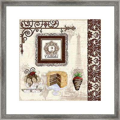 Le Chcolatier - Paris Eiffel Tower Chocolate Perfection Framed Print