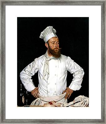 Le Chef De L'hotel Chatham Framed Print by William Orpen