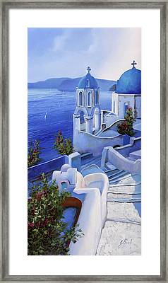 Le Chiese Blu Framed Print by Guido Borelli