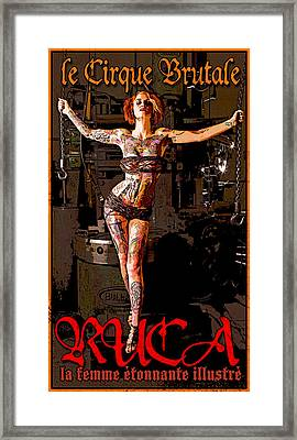 Le Cirque Brutal Ruca Framed Print by H James Hoff