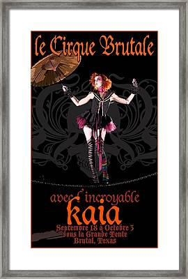 Le Cirque Brutale Kaia Framed Print by H James Hoff