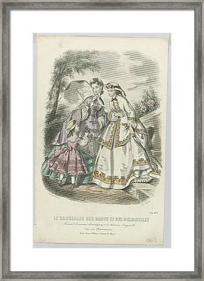 Le Conseiller Des Dames Et Des Demoiselles, Juin 1862 Journal D Economie..., Anonymous, A. Leroy, 18 Framed Print by Celestial Images