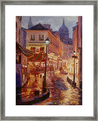 Le Consulate Montmartre Framed Print by David Lloyd Glover