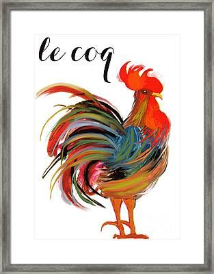 Le Coq Art Nouveau Rooster Framed Print